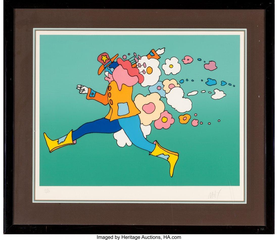 62404: Peter Max (American, b. 1937) Flower Jumper Lith - 2