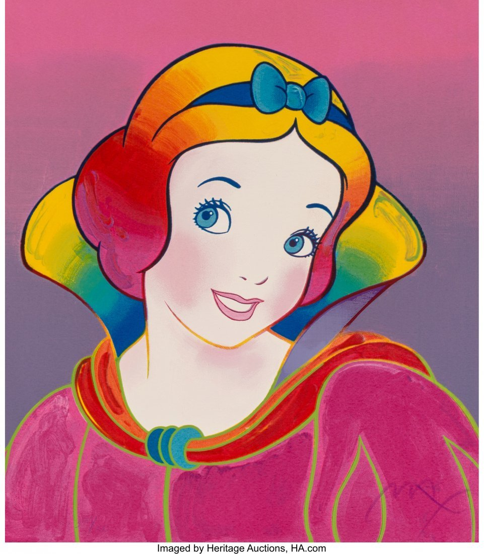 62409: Peter Max (American, b. 1937) Snow White, Suite