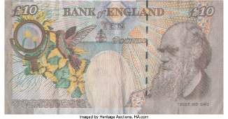 12297: After Banksy Di-Faced Tenner, 10 GBP Note, 2005