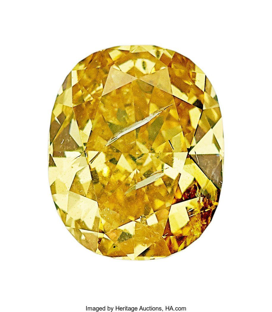 55167: Unmounted Fancy Intense Orangy Yellow Diamond  T
