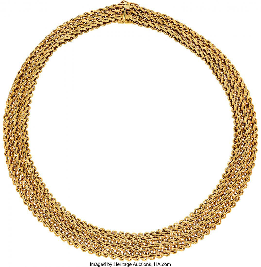 55015: Gold Necklace, Mario Buccellati   The 18k gold w