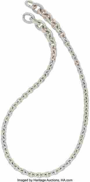 55321: Diamond, White Gold Necklace, David Yurman The