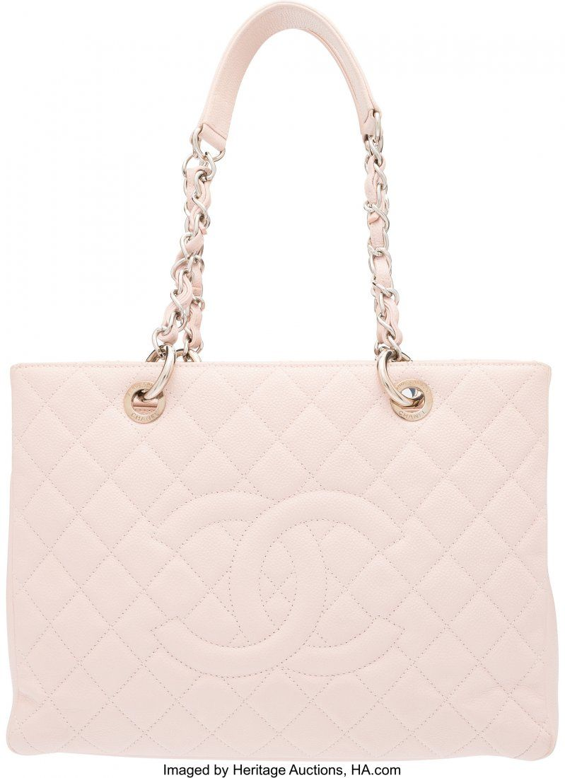 58004 Chanel Light Pink Caviar Leather GST Grand Shopp