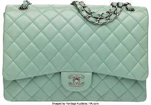 951d869778f6 See Sold Price. 58015: Chanel Mint Green Lambskin Leather Maxi Single F  58015: Chanel Mint Green Lambskin Leather Maxi Single F