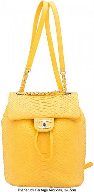 f31141dadb2c See Sold Price. 58016: Chanel Matte Yellow Python Small Urban Spirit Ba  58016: Chanel Matte Yellow Python Small Urban Spirit Ba