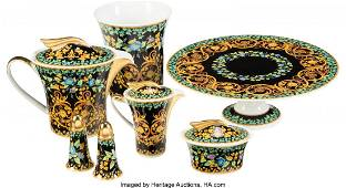 Versace Set of 7: Gold Ivy Tableware Condition