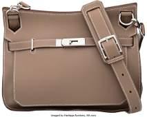 Hermes 28cm Etoupe Evercolor Leather Jypsiere Ba