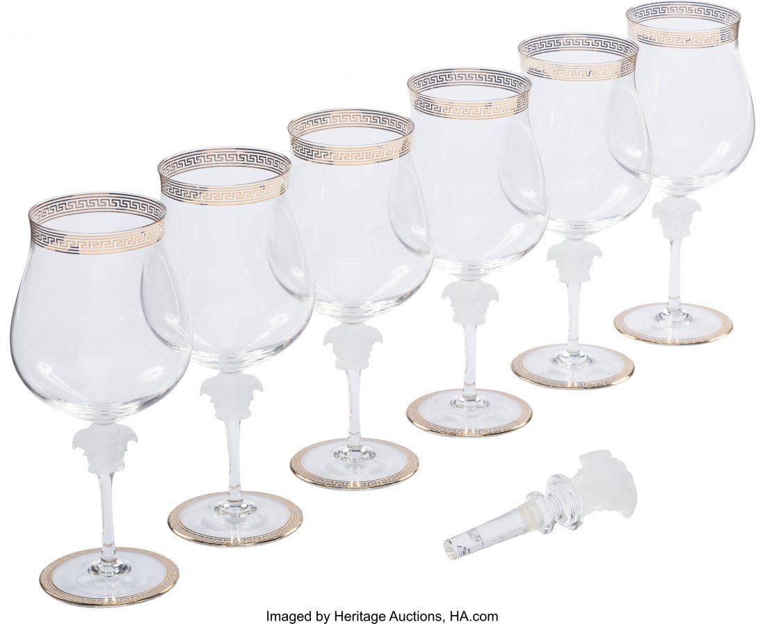 Versace Set of 7: Barware Condition: 1 Glasses