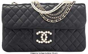 0ce084880254 See Sold Price. 58022: Chanel Black Quilted Lambskin Leather Westminste  58022: Chanel Black Quilted Lambskin Leather Westminste