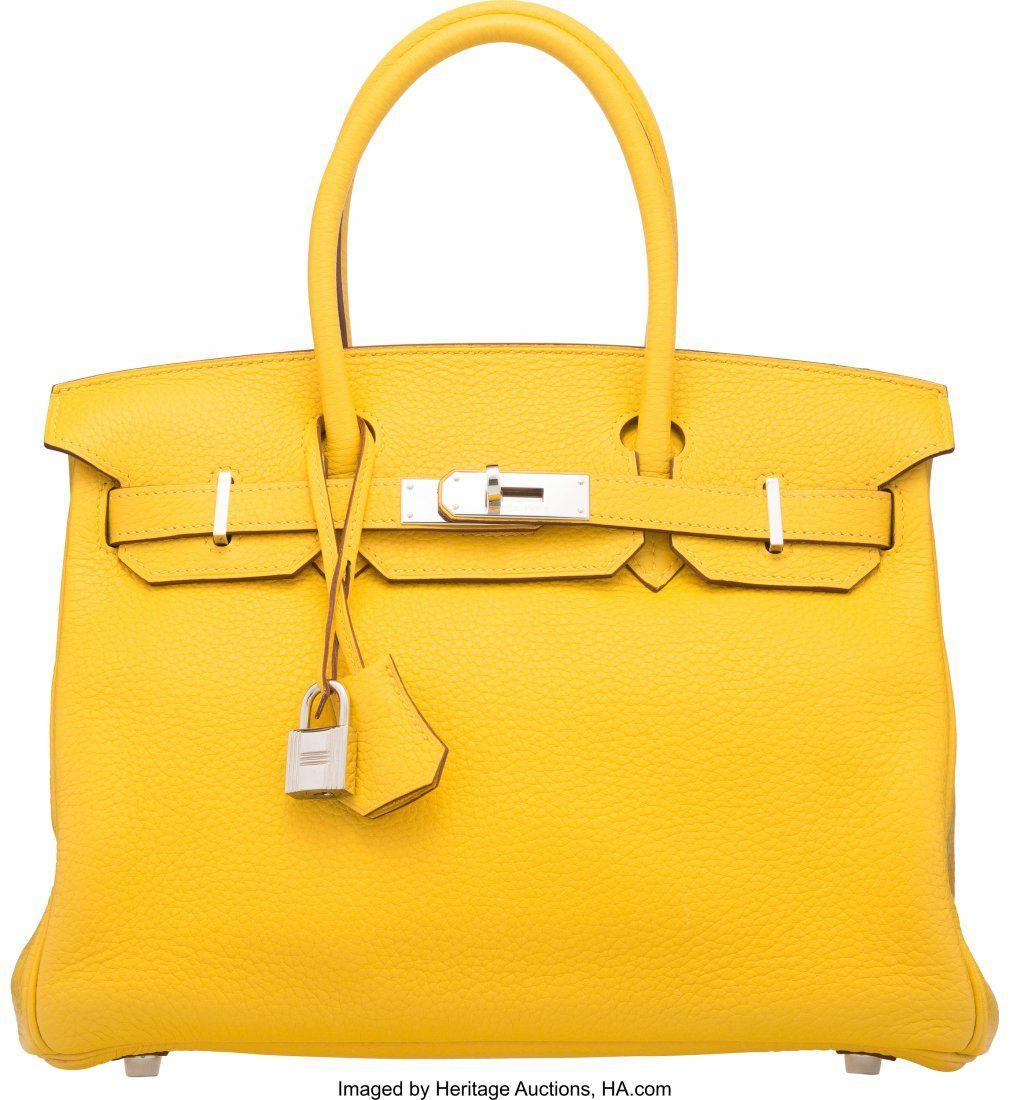 58104: Hermes 30cm Soleil Togo Leather Birkin Bag with
