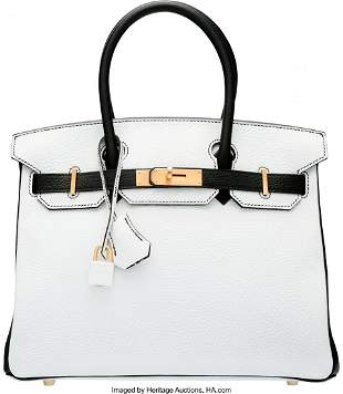 58072 Hermes Special Order Horseshoe 30cm White Blac