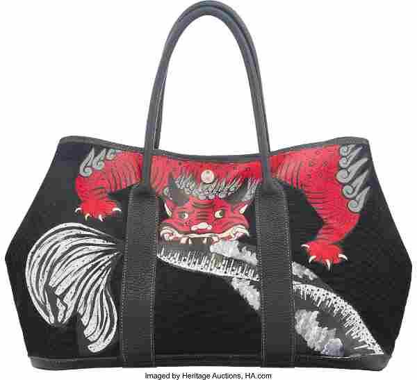 Hermes Customized Black Negonda Leather & Toile