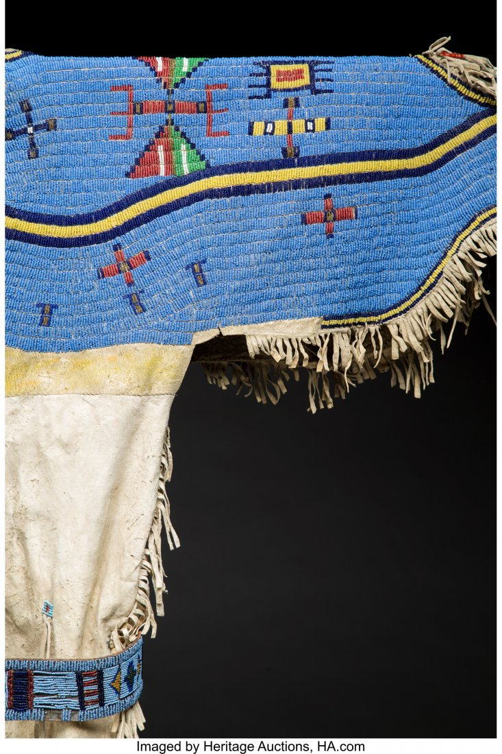 70244: A Sioux Girl's Beaded Hide Dress with Panel Belt - 3