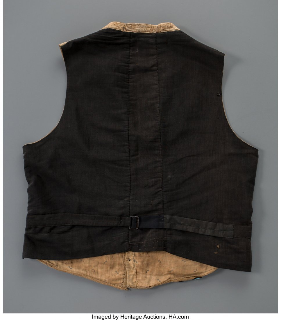 70262: A Crow Beaded Hide Vest c. 1890   hide, glass se - 2