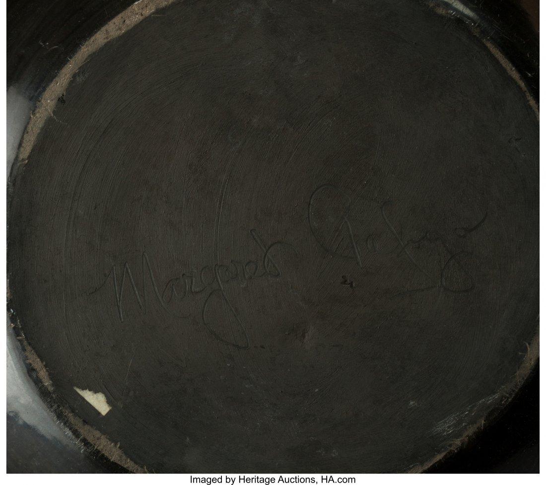 70094: A Large Santa Clara Carved Blackware Jar  Margar - 2