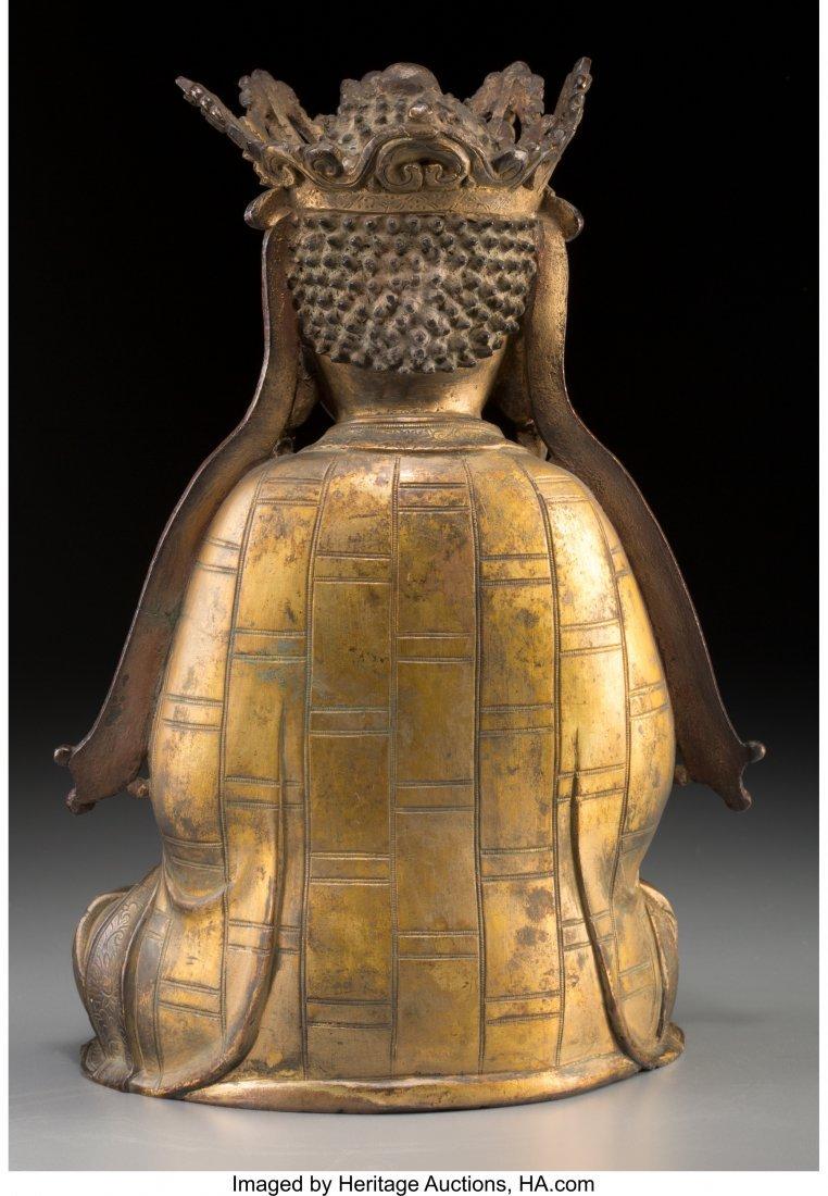 78183: A Chinese Gilt Bronze Seated Vairocana Buddha, M - 2