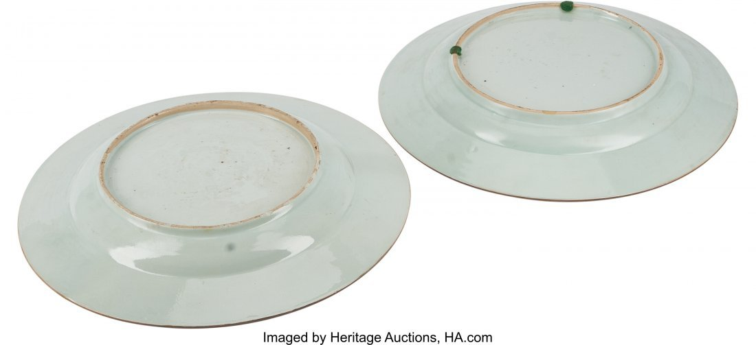 78367: A Pair of Chinese Export Porcelain Chargers, Qin - 3
