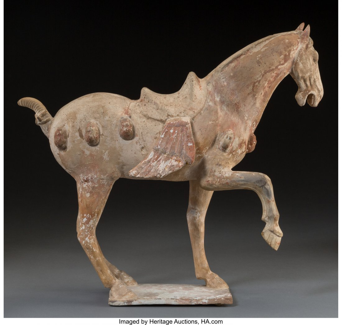 78287: A Chinese Tang Pottery Horse, Tang Dynasty, circ - 2