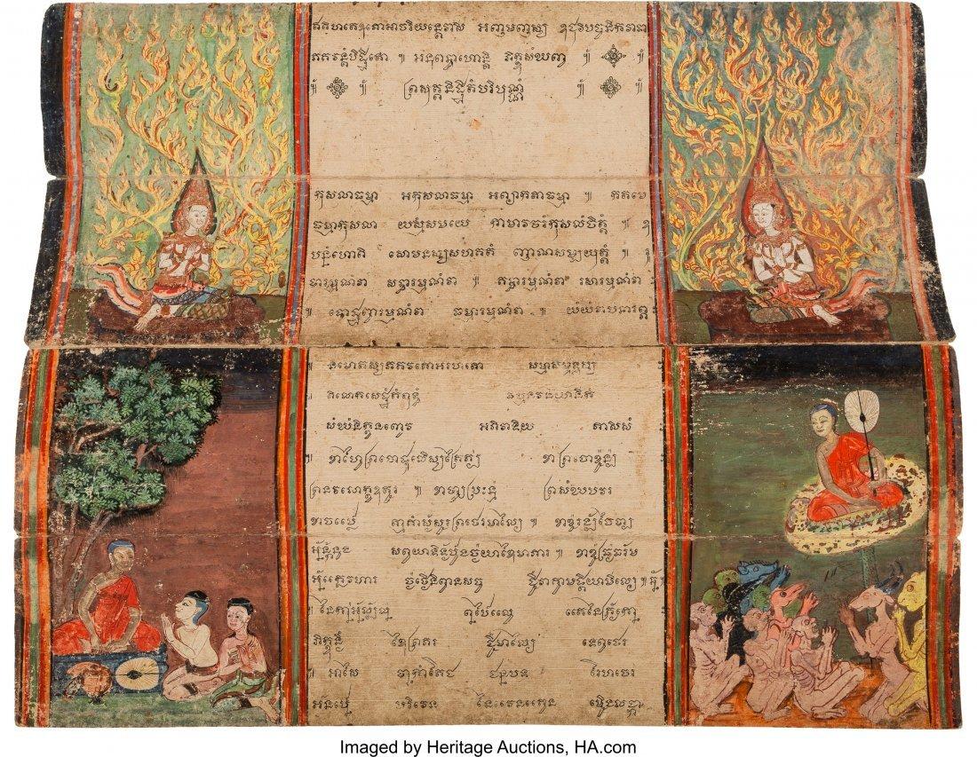 78407: A Southeast Asian Illuminated Manuscript Folio 2 - 3