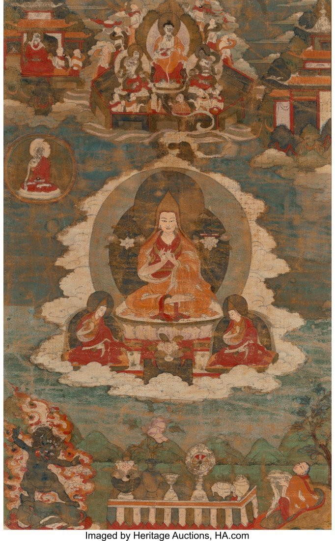 78413: A Tibetan Thangka, 18th century