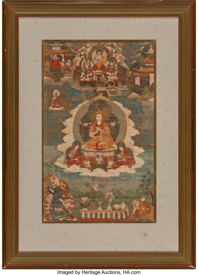 78413: A Tibetan Thangka, 18th century - 2