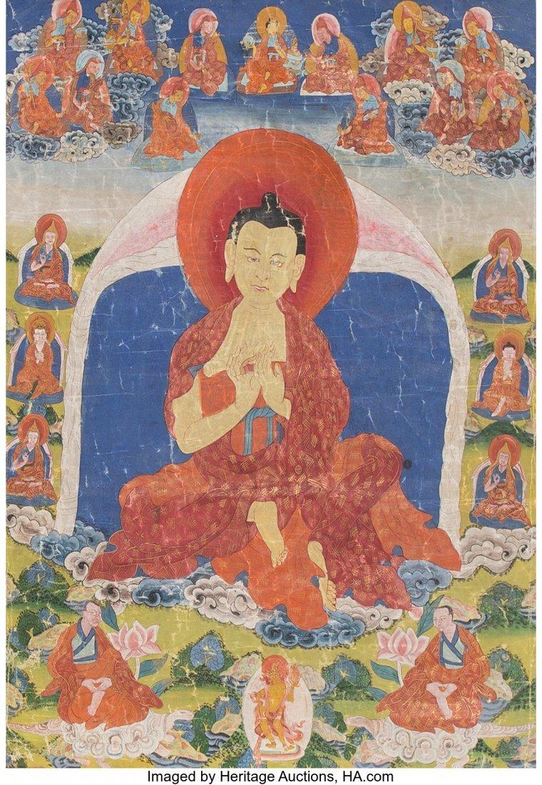 78414: Two Tibetan Thangkas Depicting Buddhist Pantheon