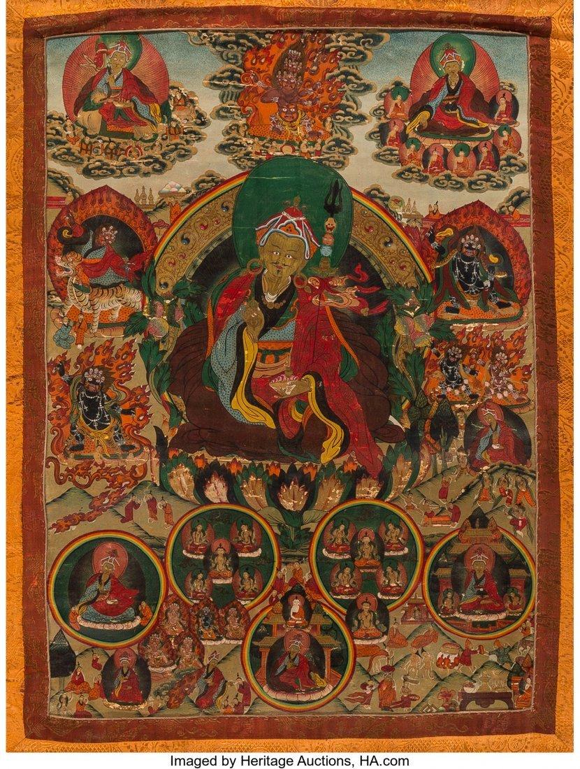78415: A Tibetan Thangka, 19th century 23-1/2 inches hi