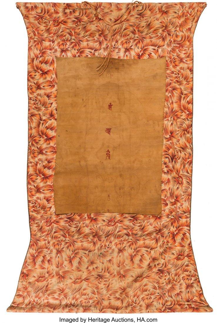 78415: A Tibetan Thangka, 19th century 23-1/2 inches hi - 2