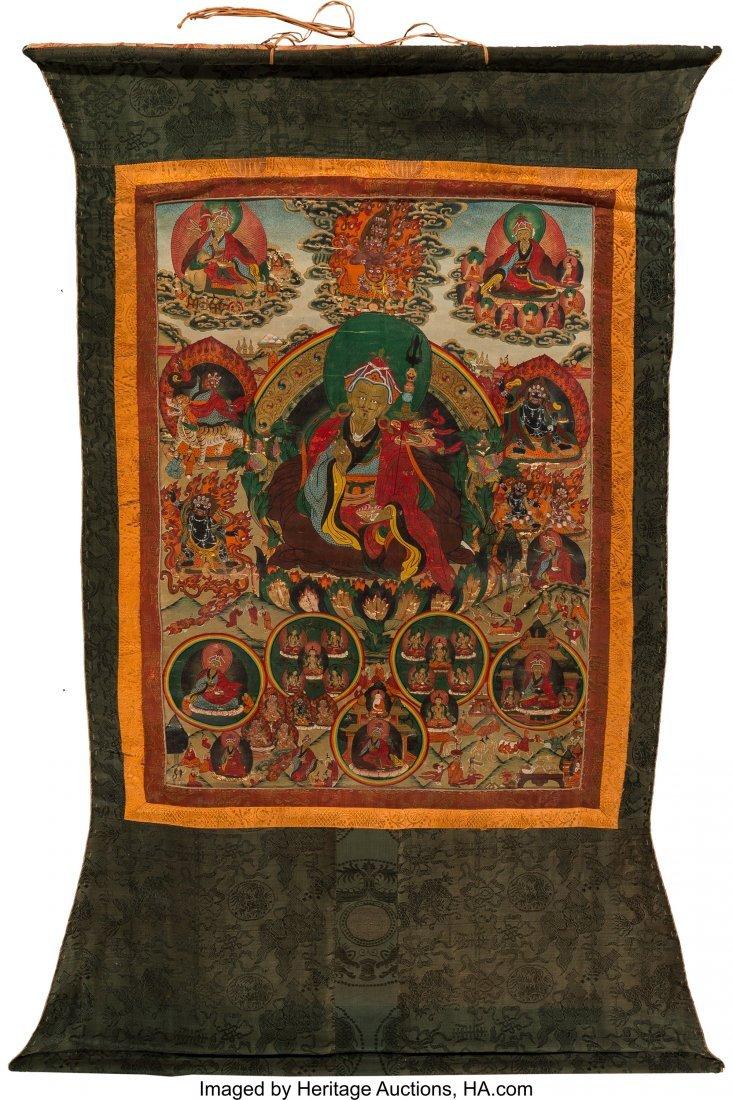 78415: A Tibetan Thangka, 19th century 23-1/2 inches hi - 3