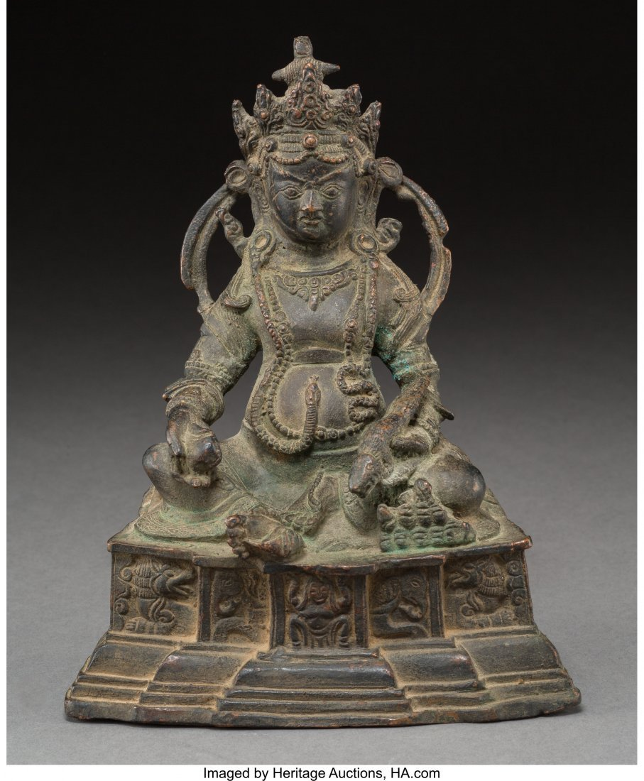 78416: A Southeast Asian Bronze Seated Jambhala with Mo