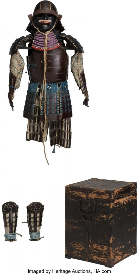 78474: A Japanese Samurai Armor with Box, Edo Period, 1