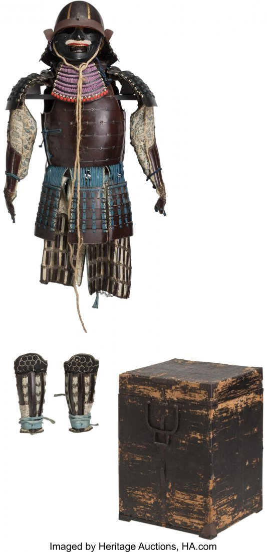 78474: A Japanese Samurai Armor with Box, Edo Period, 1 - 4