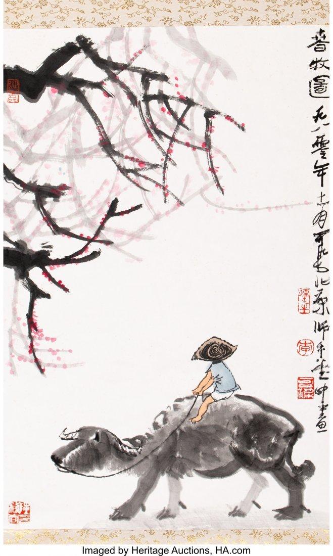 78261: A Li Keran (1907-1989) Chinese Watercolor Painti