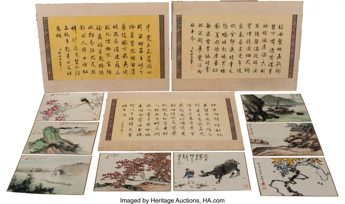 78267: An Assorted Group of Chinese Watercolor and Call