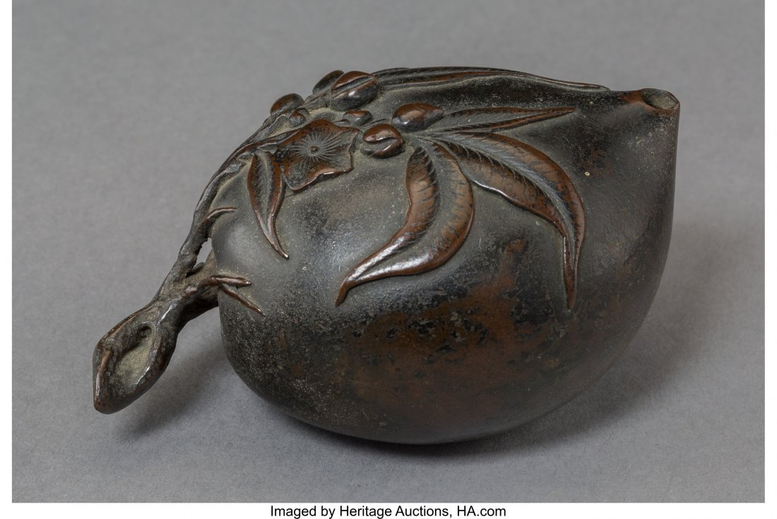 78176: A Chinese Bronze Water Dropper, Qing Dynasty, 19