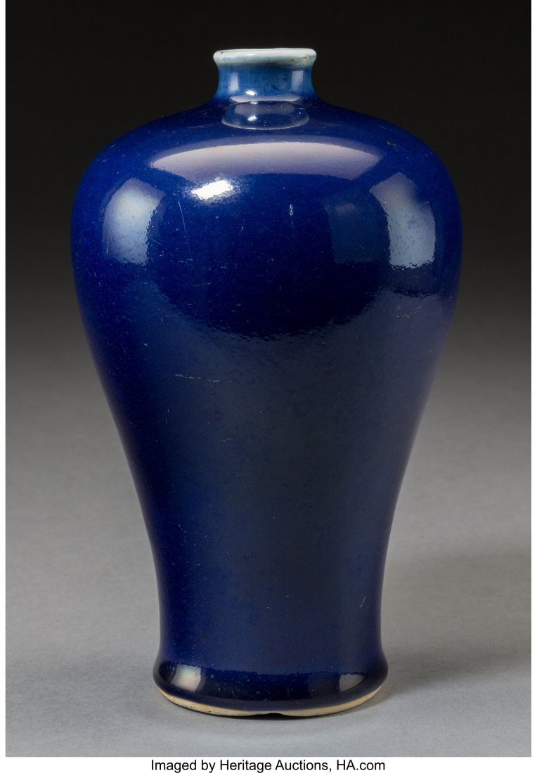 78650: A Chinese Cobalt-Glazed Porcelain Meiping Vase M
