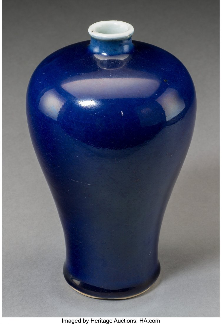 78650: A Chinese Cobalt-Glazed Porcelain Meiping Vase M - 2