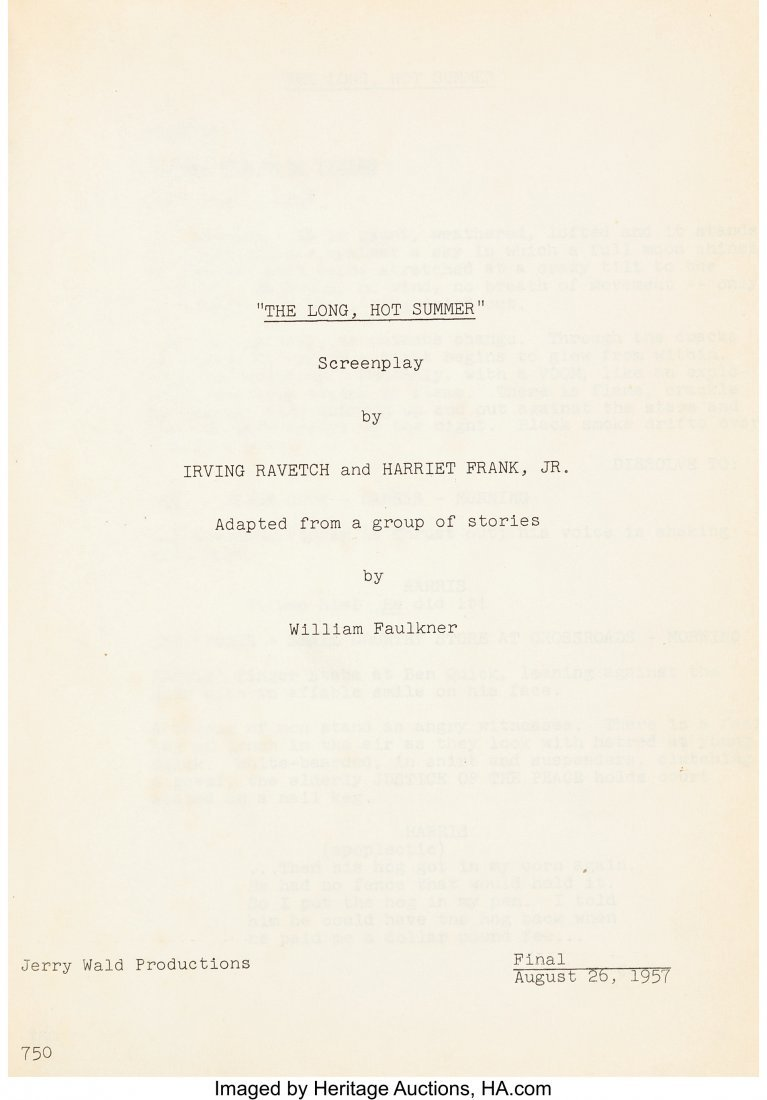 """89066: Orson Welles Personally-Owned Script from """"The L - 2"""