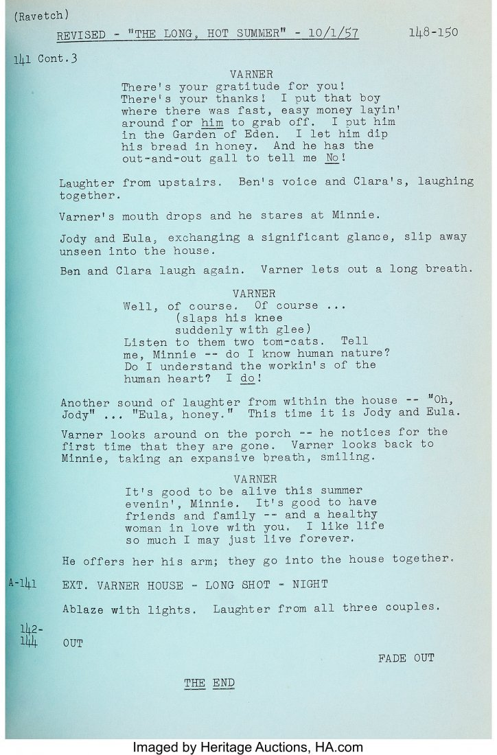 """89066: Orson Welles Personally-Owned Script from """"The L - 4"""