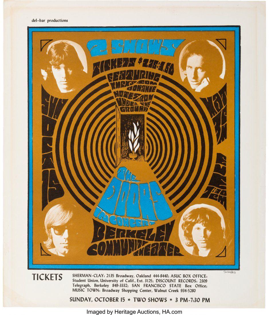 89116: Doors Berkeley Community Theater Concert Poster