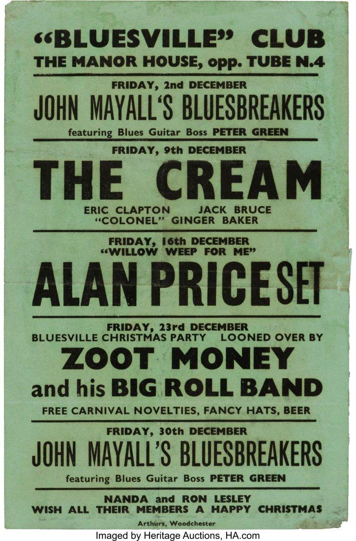 "89333: ""Bluesville"" Manor House Concert Handbill (1966)"
