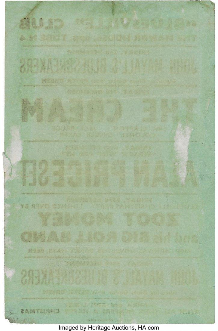 "89333: ""Bluesville"" Manor House Concert Handbill (1966) - 2"