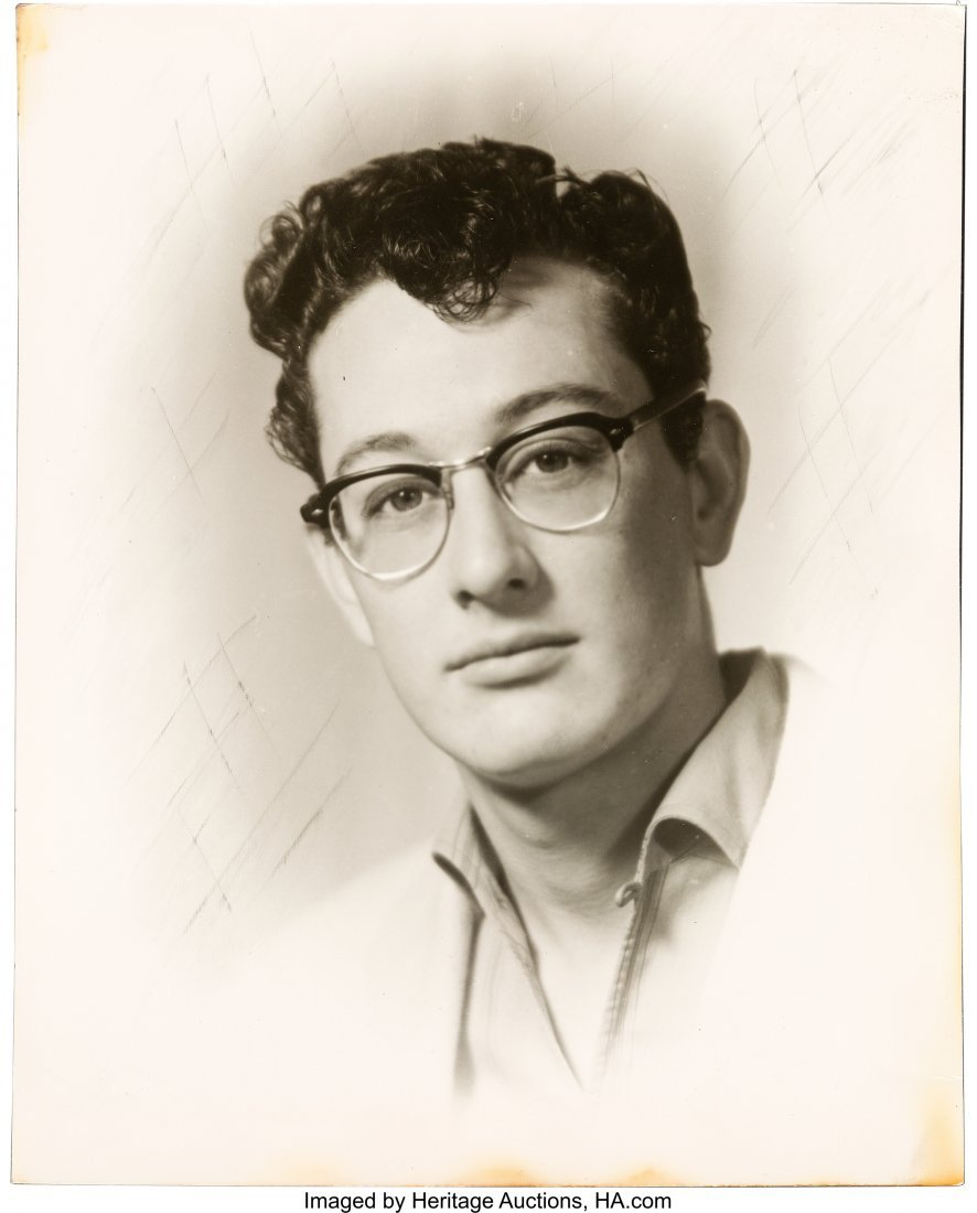 """89362: Early Buddy Holly Photographic Portrait. 8"""" x 10"""