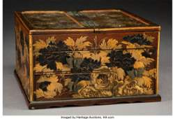 78391 A Japanese Lacquered and Partial Gilt Wood Table