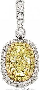 55316: Fancy Yellow Diamond, Colored Diamond, Diamond,
