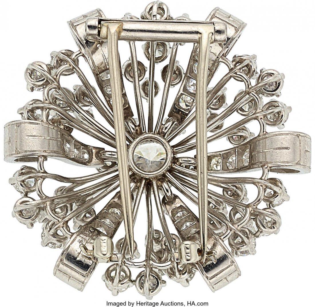 55108: Diamond, Platinum Brooch, Oscar Heyman Bros.   T - 2