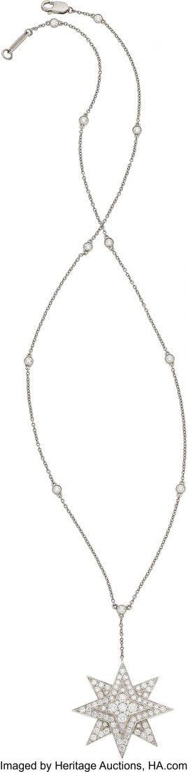 55277: Diamond, Platinum Necklace, Tiffany & Co.  The e