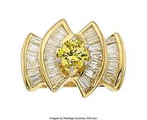 55356 Fancy Intense Yellow Diamond Diamond Gold Ring