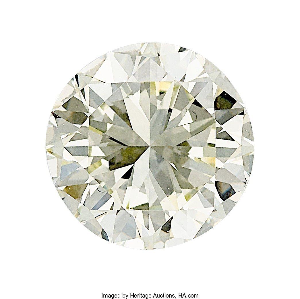 55135: Unmounted Diamond  The round brilliant-cut diamo