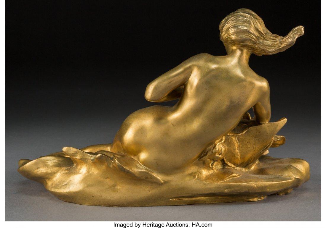 63082: A Maurice Bouval Art Nouveau Gilt Bronze Figural - 3